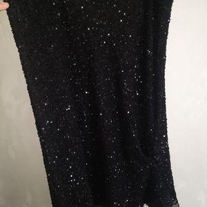 Chesca black sequin skirt